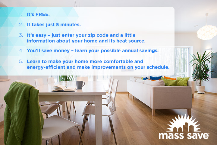 Top Five Reasons to Take Mass Save's Online Home Energy Assessment